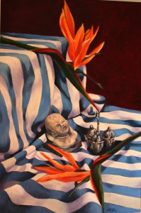54Still Life with Blue Cloth